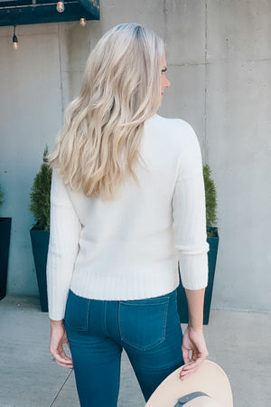 Play It Cool OTS Cozy Sweater : Ivory