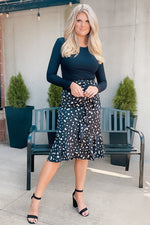 Feelings Like This Ruffle Midi Skirt : Black