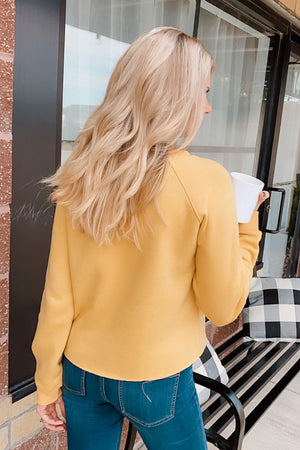 All I Want Is Coffee/Wine Reversible Top : Yellow