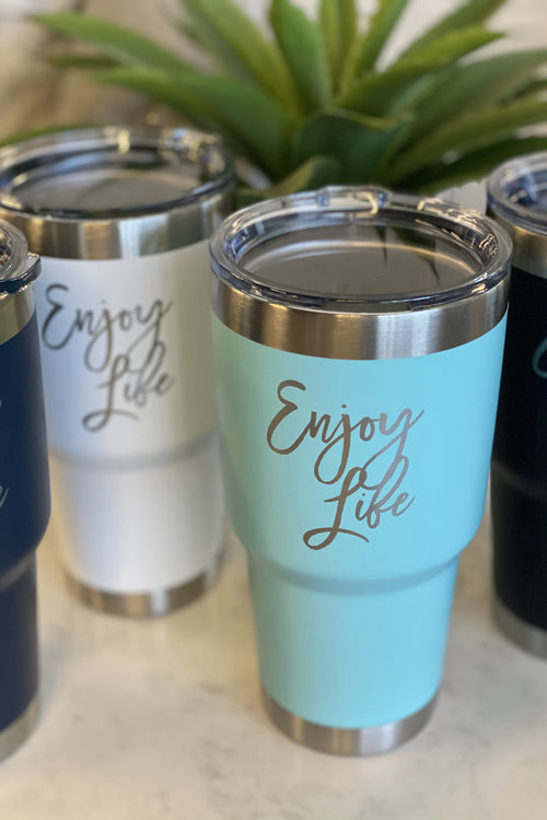 30oz Stainless Steel Tumbler : Enjoy Life
