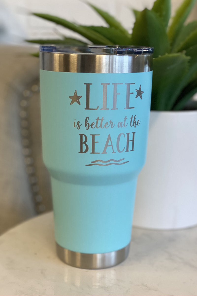 30oz Stainless Steel Tumbler : Beach Life
