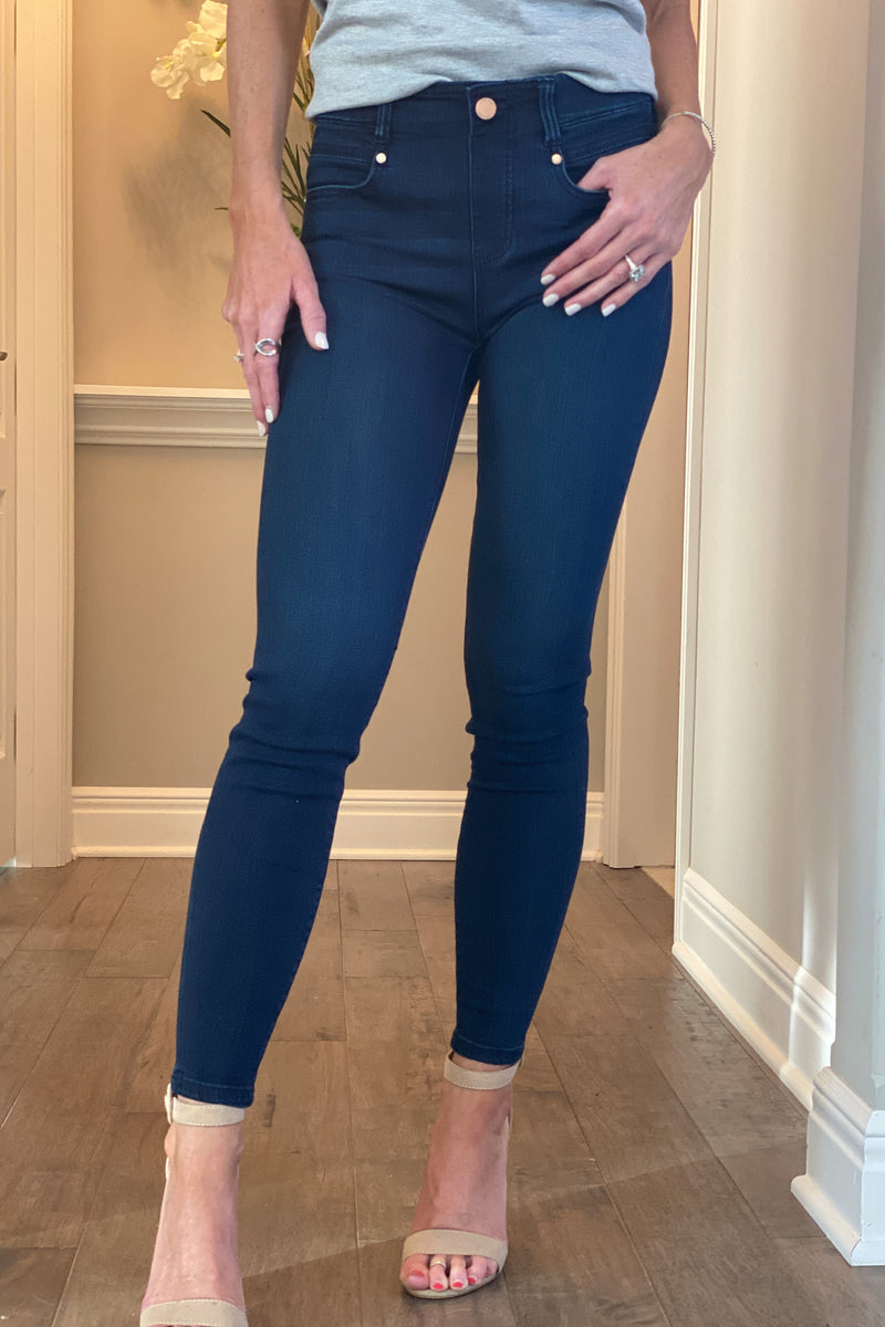 Liverpool Lovel Gia Glider Ankle Skinny Jean : Dark Wash