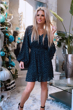 Nights Like These Floral Print Button Down Dress : Black