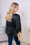 Not Afraid To Sparkle Peplum Top : Black