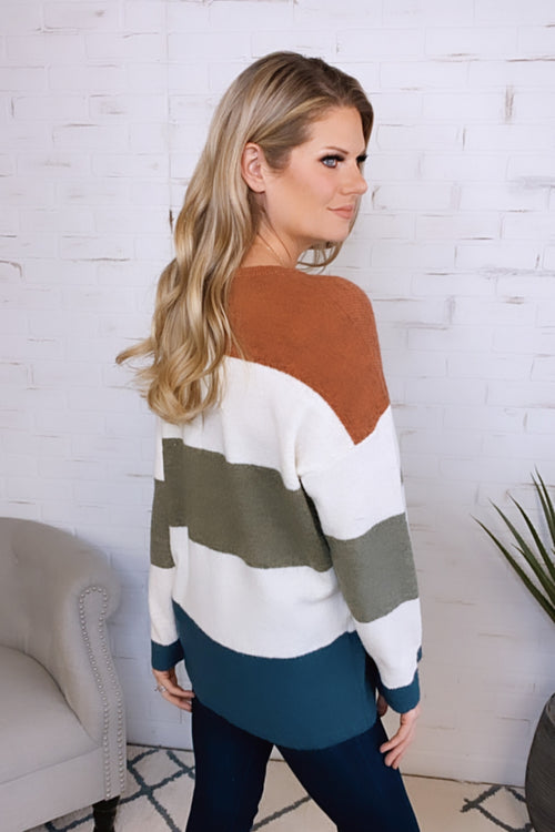 Passionate Soul Color Block Sweater : Multi