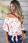 Happy Moments Off The Shoulder Top : Ivory