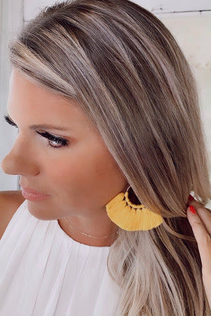 Willow Fringe Earrings : Yellow