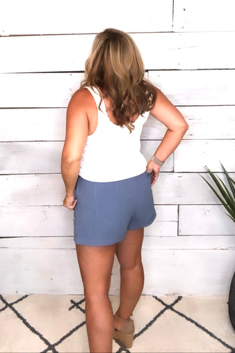 New Comfort Zone Drawstring Shorts : Blue