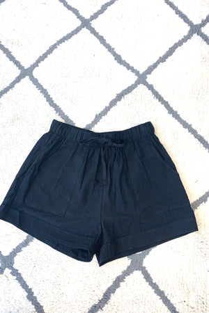 New Comfort Zone Drawstring Shorts : Black