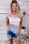 Santorini Swirl Tie Dye Top : Yellow/Multi