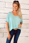 My Kind Of Day Slouchy Tee : Aqua