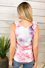 The Right Vibe Tie Dye Top : Pink/Multi
