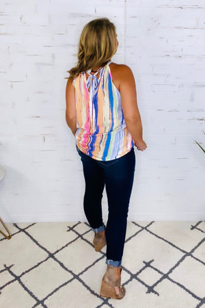 Malibu Mixer Printed Top : Lavender Multi