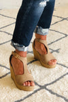 Emery Wedge Strap Sandal : Taupe