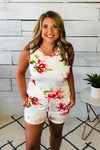 Have It All Floral Print Shorts : Ivory
