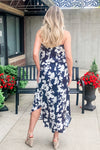 Craving Cabo Floral Maxi Dress : Black/White