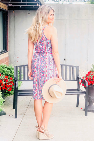 My Favorite Promise Floral Dress : Pink/Blue