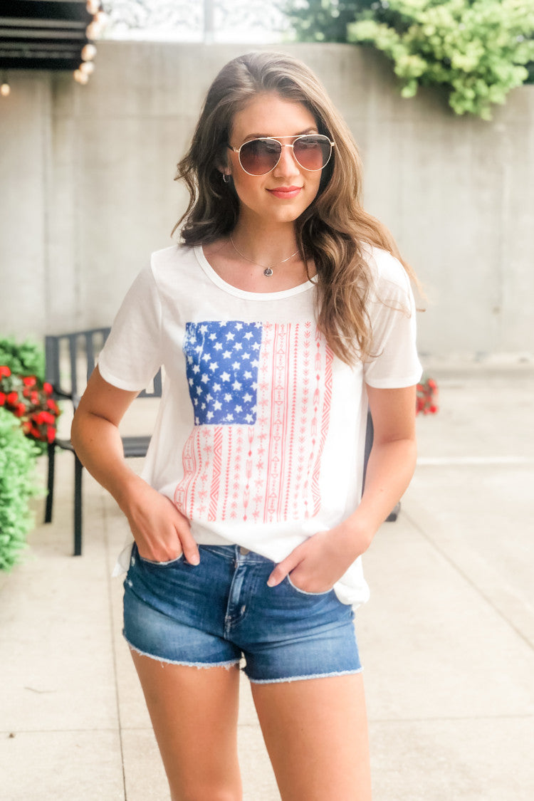 American Pride Graphic Tee : Ivory