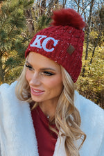 KC Nollia Knit Beanie With Pom : Dark Red