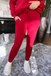 Like To Lounge Hoodie and Jogger Set : Red