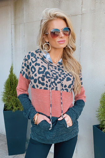 Spot The Difference Leopard Pullover : Rust