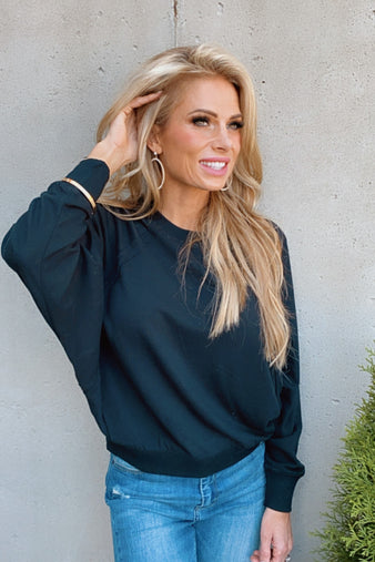 Nothing But The Best Dolman Pullover : Black