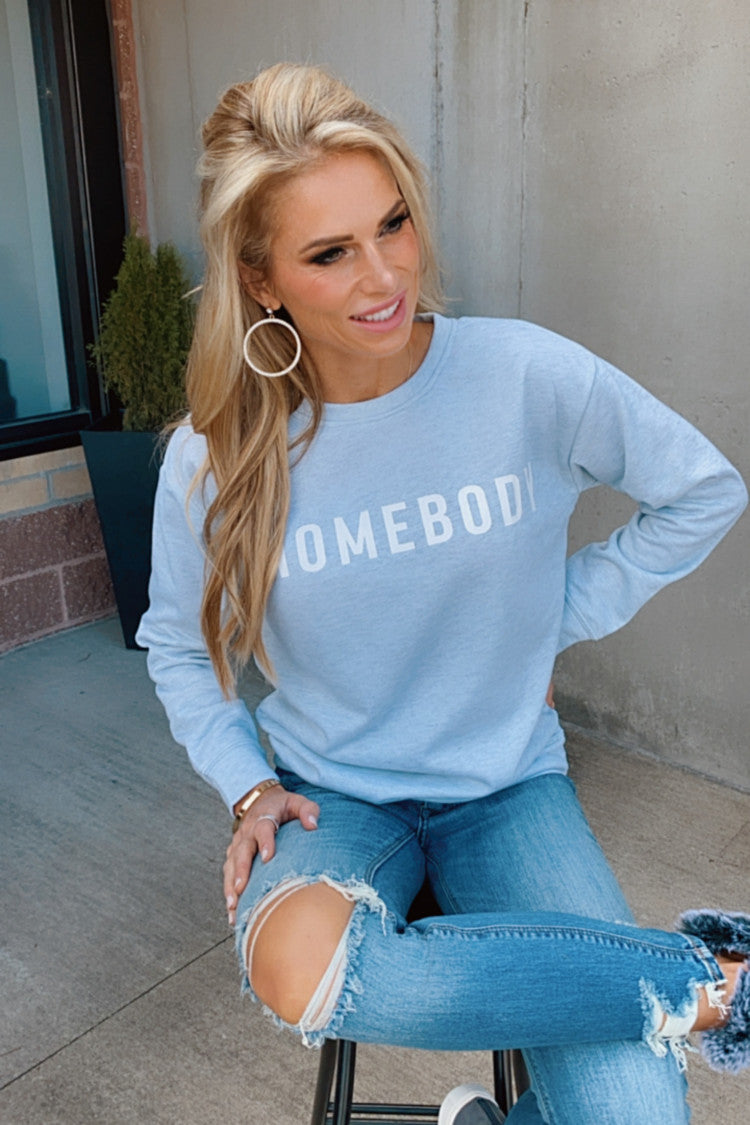 Homebody Long Sleeve Crew Neck : Grey