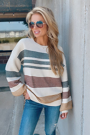 Date Night Out Color Block Sweater : Hunter Green