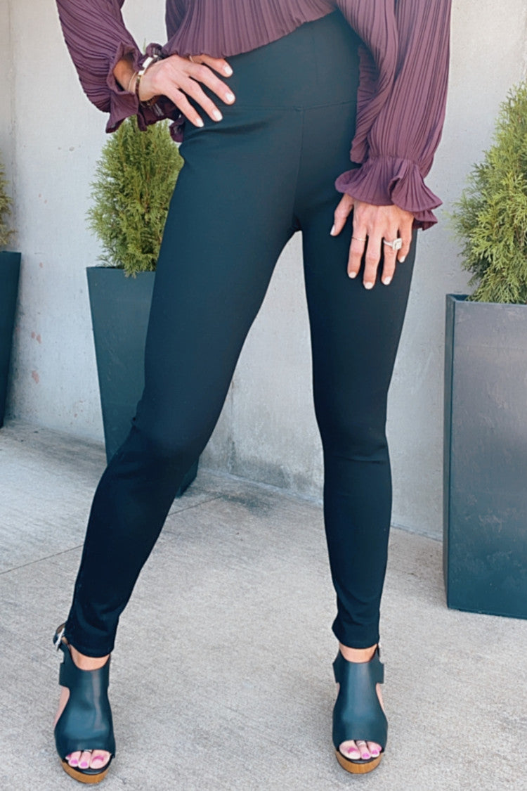 Running In Circles High Waist Leggings : Black