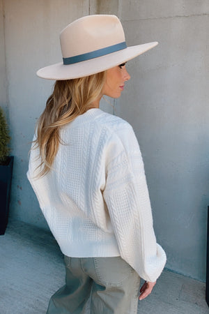 Here For A Lifetime Cable Knit Sweater : Cream