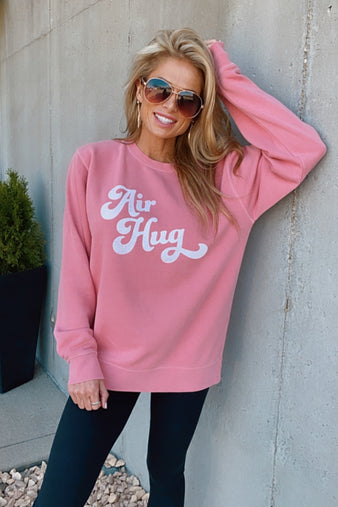 Retro Air Hug Sweatshirt : Pink