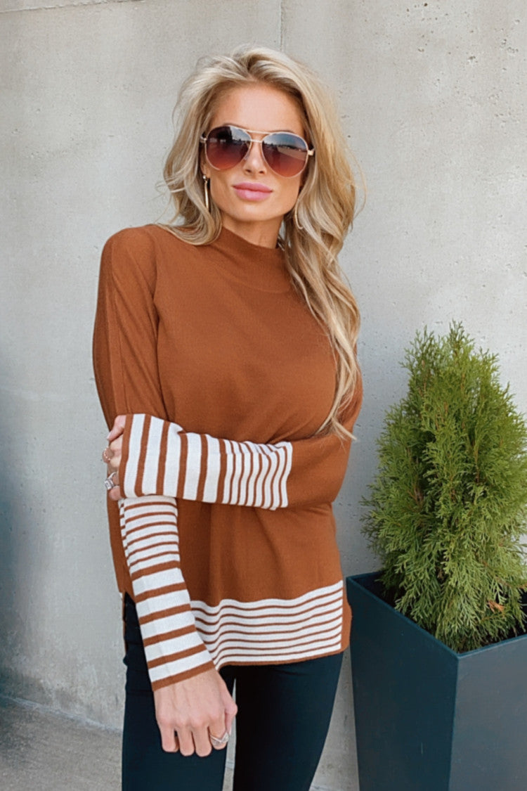 Love Me Forever Dolman Sweater : Cinnamon