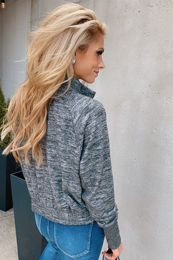 Cozy Evening Zip Up Hoodie : Charcoal
