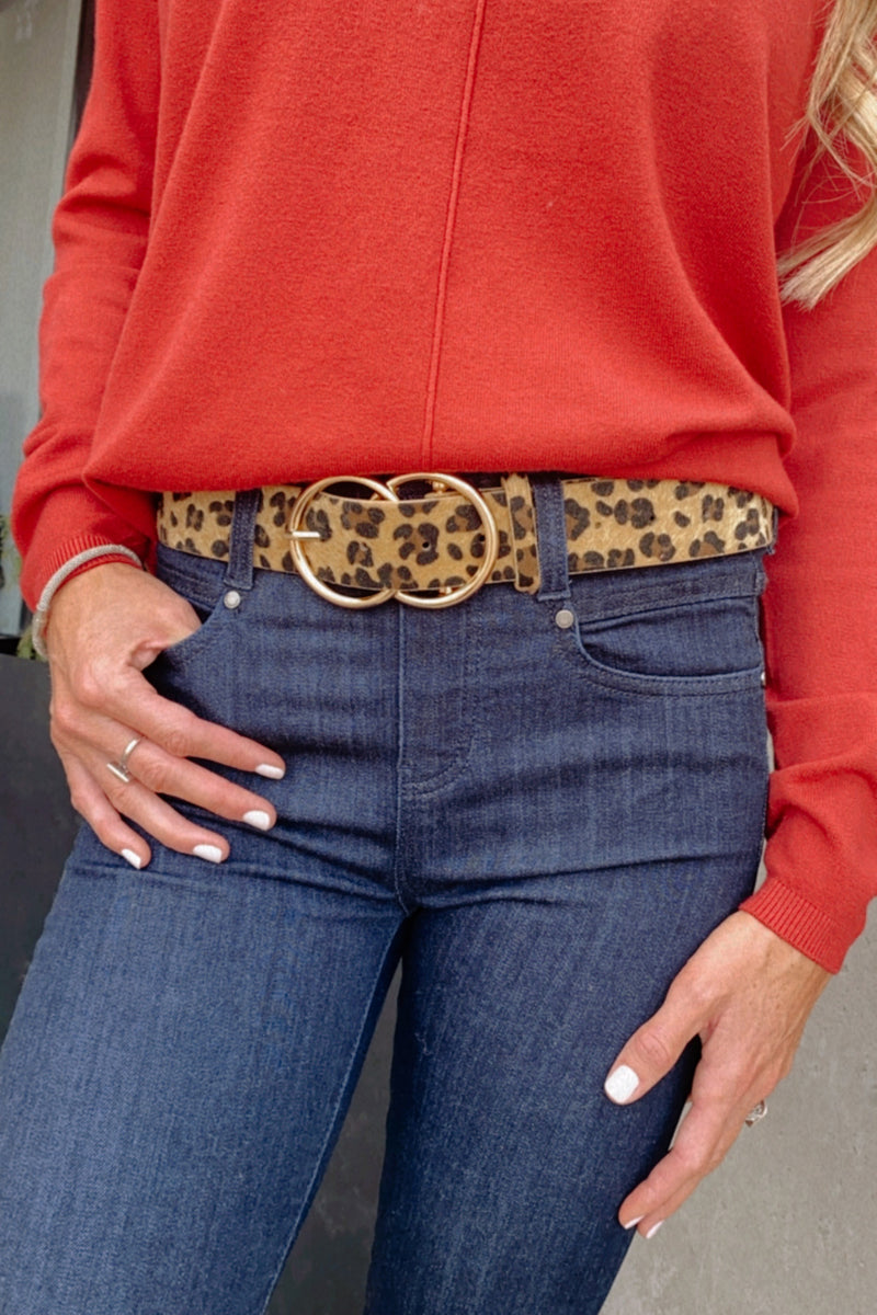 Great Escape Double Ring Belt : Cheetah