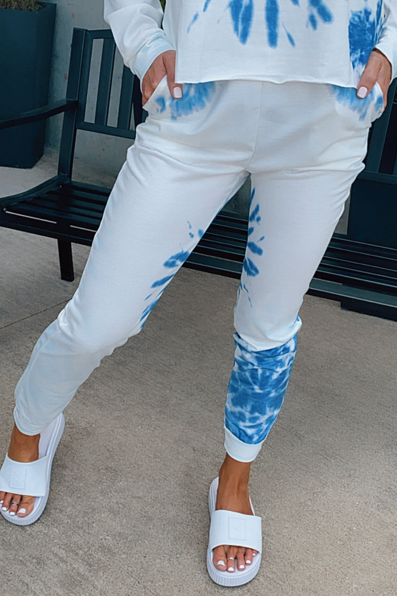 Chase A Dream Tie Dye Joggers : Blue