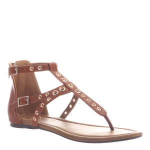 * Augusta Flat Strappy Sandal : Camel