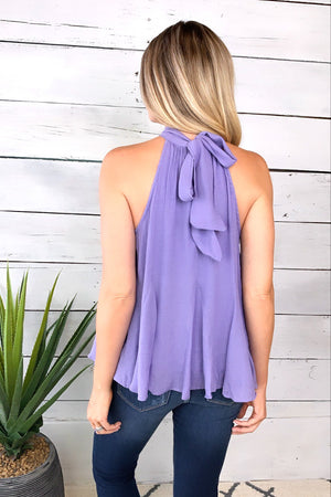 Hooked On Love Halter Top : Orchid Mist