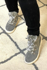 Very G Shayne Furry High Top Sneaker : Grey