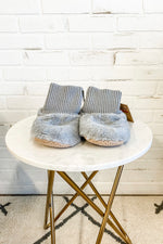 Plush Faux Fur Slipper Bootie : Grey