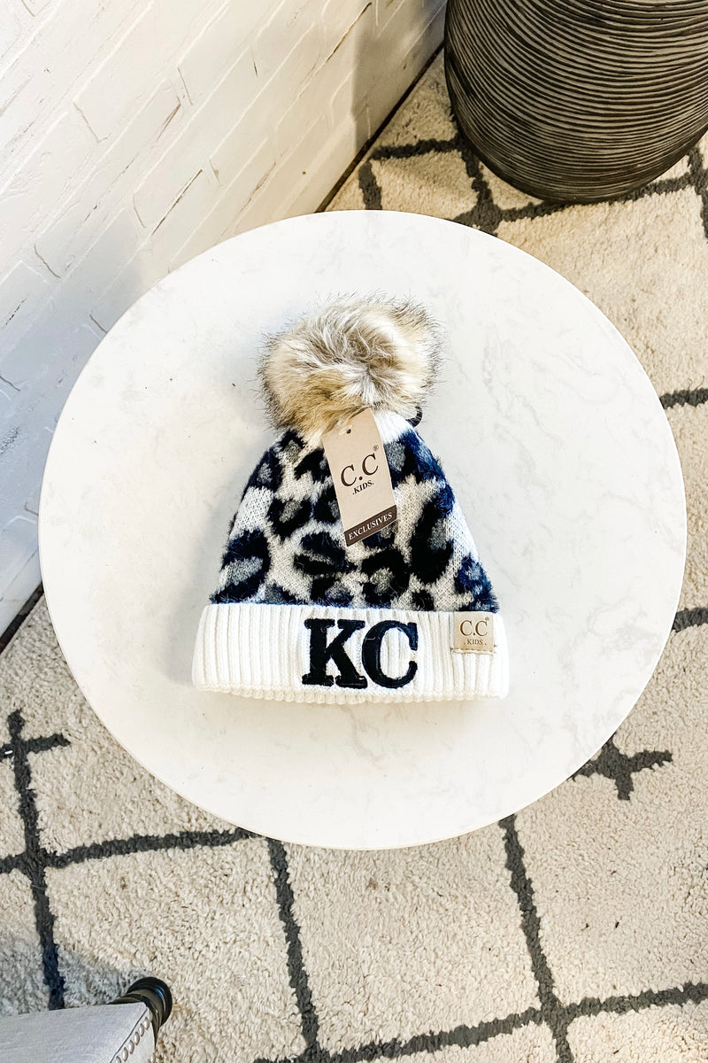 KC Kids CC Beanie With Pom : Leopard