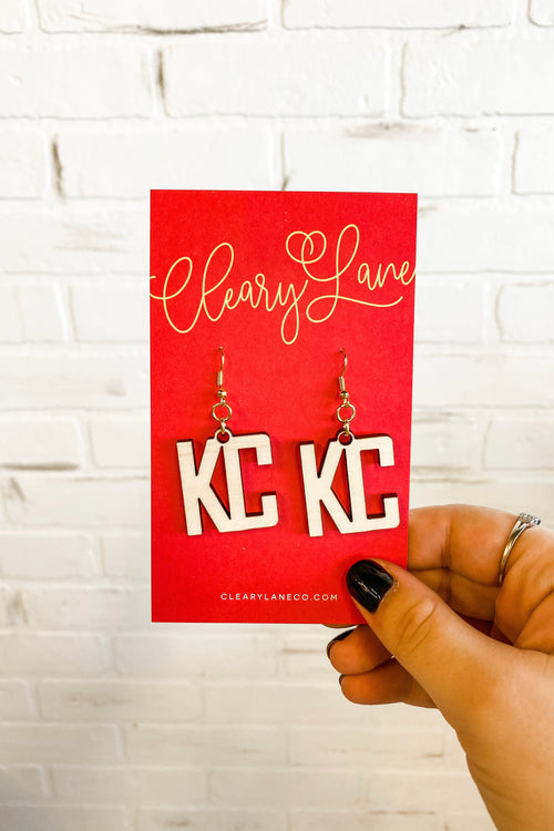 Kansas City Wooden Dangle Earrings