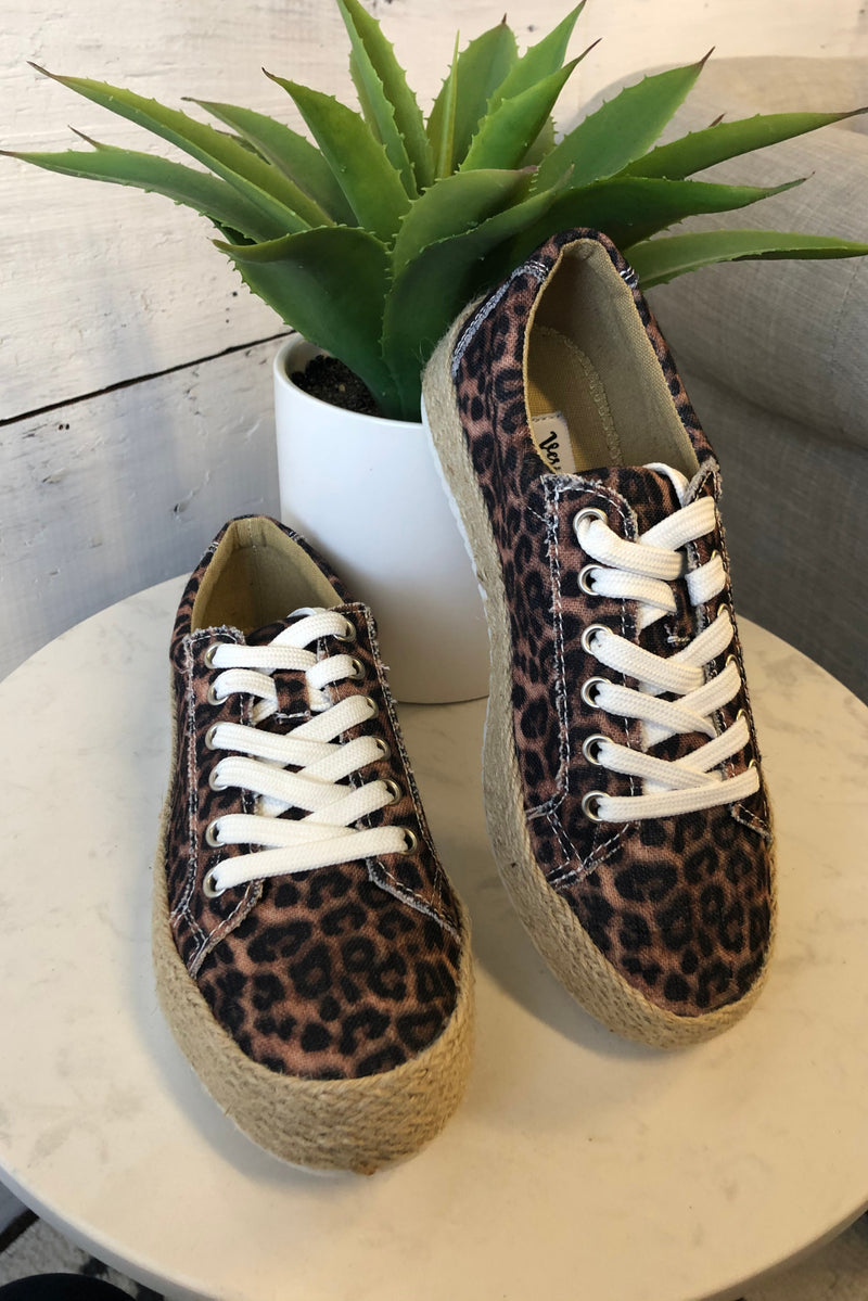 Maria Very G Espedrille Sneakers : Leopard