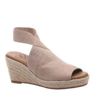 Sunny Days Strap Wedge :Taupe