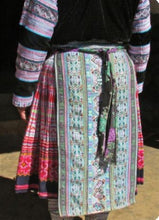 Load image into Gallery viewer, Hill Tribe Cross Stitch Skirt Pieces-Purple and Green