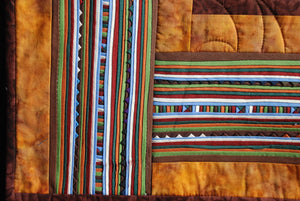 Bali Cotton Batik Strip Kits-02907 Green, Brown, Gold