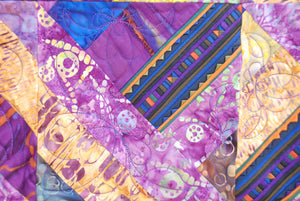 Bali Cotton Batik Strip Kits-02902 Purple, Gold