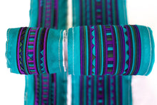 Load image into Gallery viewer, Bali Cotton Batik Strip Kits-02903 Turquoise and Purple