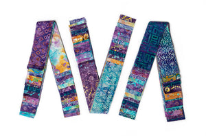 Bali Cotton Batik Strip Kits-02903 Turquoise and Purple