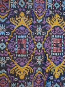 Bali Ikat #1 Black and Jewel Tones