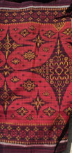 Load image into Gallery viewer, Bali Ikat #2 Red and Golds